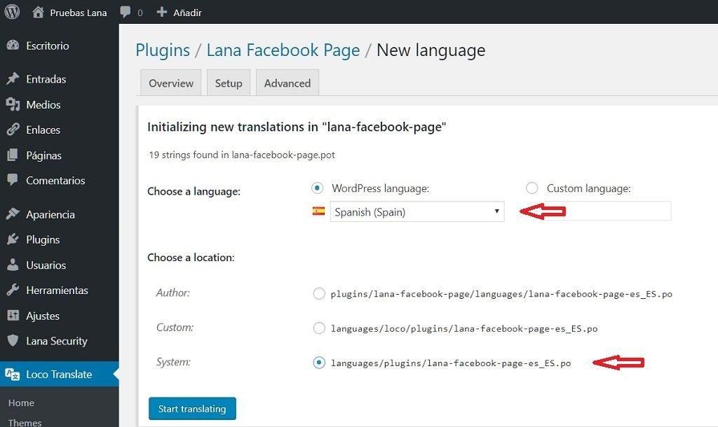 como utilizar loco translate correctamente