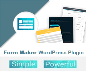 Form Maker plugin Wordpress para crear formularios.