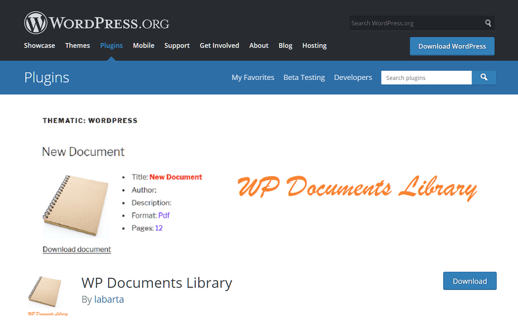 wp-documents-library
