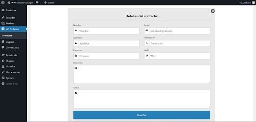 WP Contacts Manager, plugin WordPress